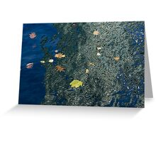 Mesmerizing Autumn - Silky Swirls and Fallen Leaves One Greeting Card