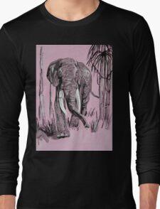 Pink Elephant Long Sleeve T-Shirt