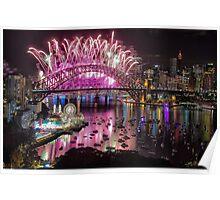 Sydney NYE Fireworks 2015 # 2 Poster