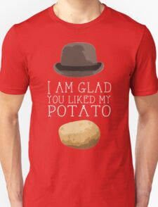 'I am glad you liked my potato' BBC Sherlock Print Unisex T-Shirt