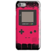 GameboyColor Splatter Red iPhone Case/Skin