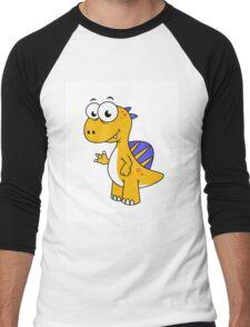 Cute illustration of a Spinosaurus. Men's Baseball ¾ T-Shirt