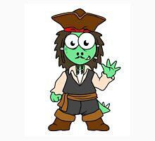 Illustration of a Stegosaurus pirate, Jack Sparrow. Unisex T-Shirt