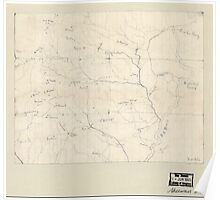 Civil War Maps 2076 Map of the Big Black River Mississippi in the vicinity of Bush and Birdsong's ferries 1863 Poster