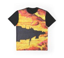 floating city in sunset Graphic T-Shirt