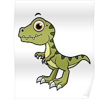 Cute illustration of a Tyrannosaurus Rex. Poster