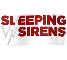 Sleeping with sirens red band Poster