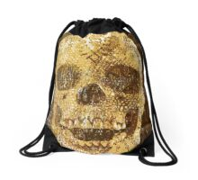 pixilated skull 003 by #RootCat Drawstring Bag