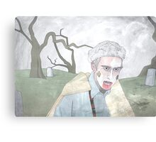 Alan Partridge Zombie Canvas Print