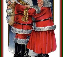 To Grandma and Grandad Mr and Mrs Claus Christmas Card by taiche