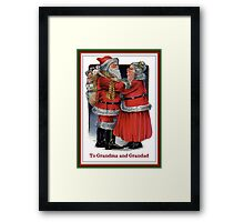 To Grandma and Grandad Mr and Mrs Claus Christmas Card Framed Print