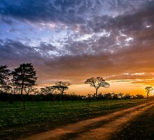 Sunset Road by bababen