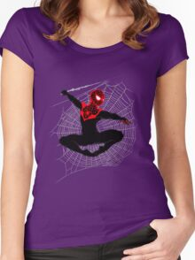 Ultimate Spider-Man IV (Large Variant) Women's Fitted Scoop T-Shirt