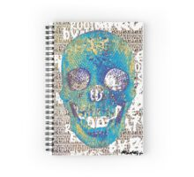 pixilated skull 005 by #RootCat Spiral Notebook