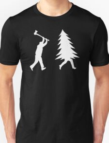 Tree Is Chased By Lumberjack T-Shirt