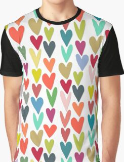 confetti hearts Graphic T-Shirt