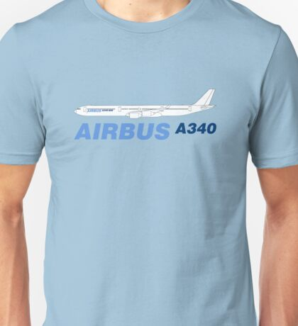 Airbus A340 Line Drawing Unisex T-Shirt