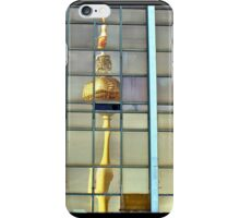 The Fernsehturm Tower, Berlin reflected in the former East German Parliament Building. iPhone Case/Skin