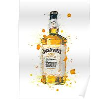 Jack Daniels Whiskey Bottle Poster