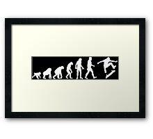 skater evolution Framed Print