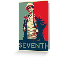 Seventh doctor - Fairey's style Greeting Card