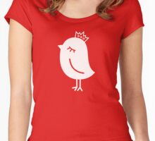 Sparrow with Crown Women's Fitted Scoop T-Shirt