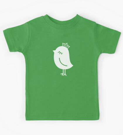 Sparrow with Crown Kids Tee