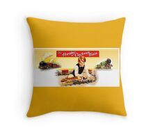 Vintage Hornby model Trains Throw Pillow