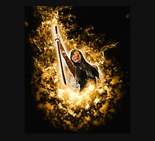 Avenging angle with a flaming sword rising from flames  Unisex T-Shirt