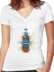 Doom Bar Beer Lager Bottle Women's Fitted V-Neck T-Shirt