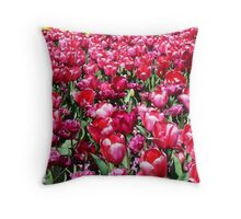 Garden of Tulips Throw Pillow