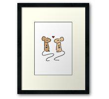 Mice Love Framed Print