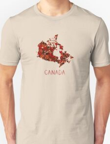 Maple Leafs Map of Canada Unisex T-Shirt