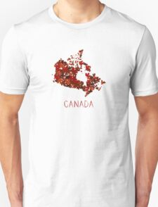 Maple Leafs Map of Canada T-Shirt