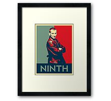 Ninth doctor - Fairey's style Framed Print