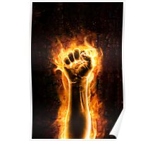 Fist of fire Poster