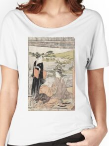 Archery - Eishi Hosoda - c1790 - woodcut Women's Relaxed Fit T-Shirt