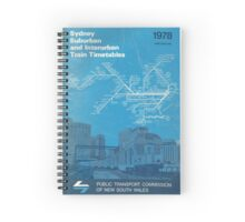 1978 Vintage Train Timetable Spiral Notebook