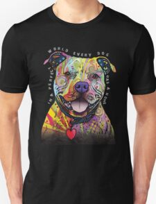 PITBULL LOVER-IN A PERFECT WORLD EVERY DOG HAS A HOME(2) T-Shirt