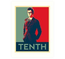 Tenth doctor - Fairey's style Art Print