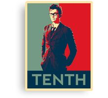 Tenth doctor - Fairey's style Canvas Print