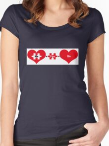 Love Equation. Me + You = Us Women's Fitted Scoop T-Shirt
