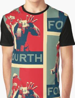 Fourth doctor - Fairey's style Graphic T-Shirt