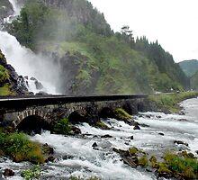 Latefoss waterfall - Norway by Arie Koene