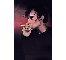 Smokey Man Photographic Print
