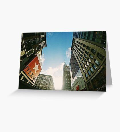 Macy's, West 34th Street, New York City Greeting Card