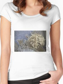 handmade paper flowers Women's Fitted Scoop T-Shirt