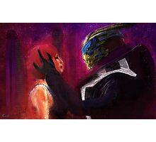 Shepard and Garrus Photographic Print