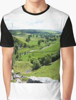 View From The Top Of Malham Cove #2 Graphic T-Shirt