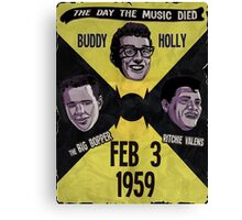 The Day the Music Died Canvas Print